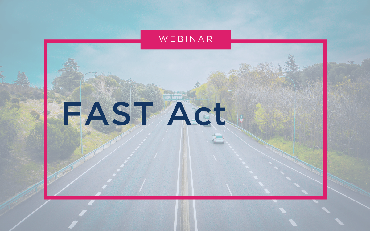 Webinar - FAST Act Recording - RESOURCE CENTER Thumbnail(3)